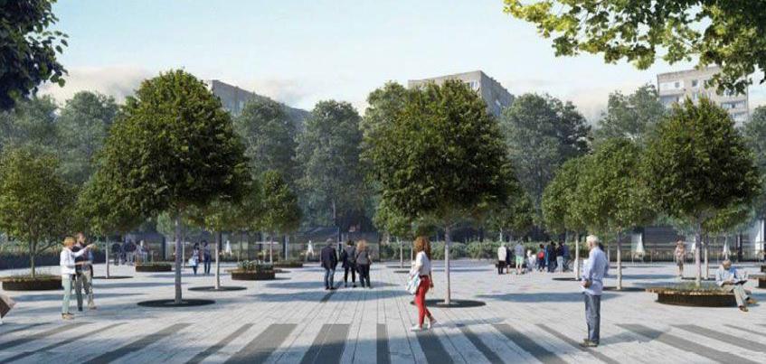 Реконструкцию Центральной площади Ижевска начнут с неработающего круглого фонтана