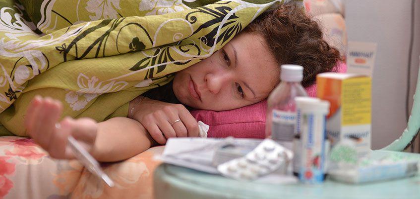 В Удмуртии за прошедшую неделю более 9000 человек заболели ОРВИ