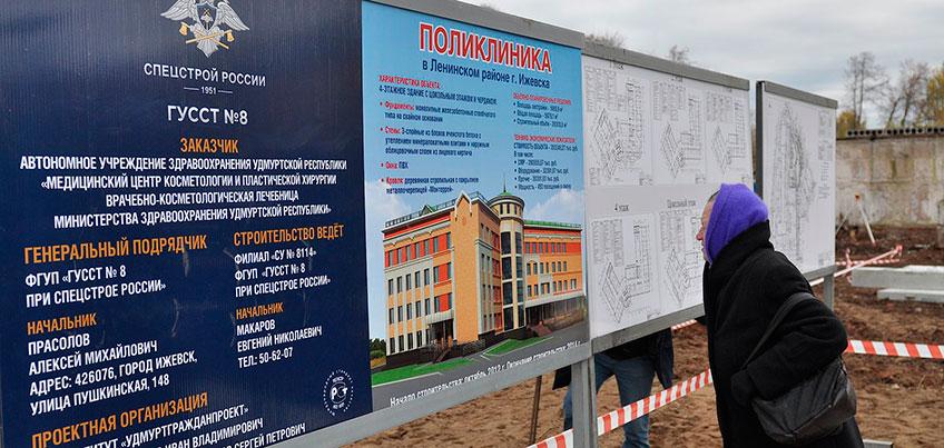 Поликлинику №4 на Баранова в Ижевске планируют достроить в декабре 2018 года