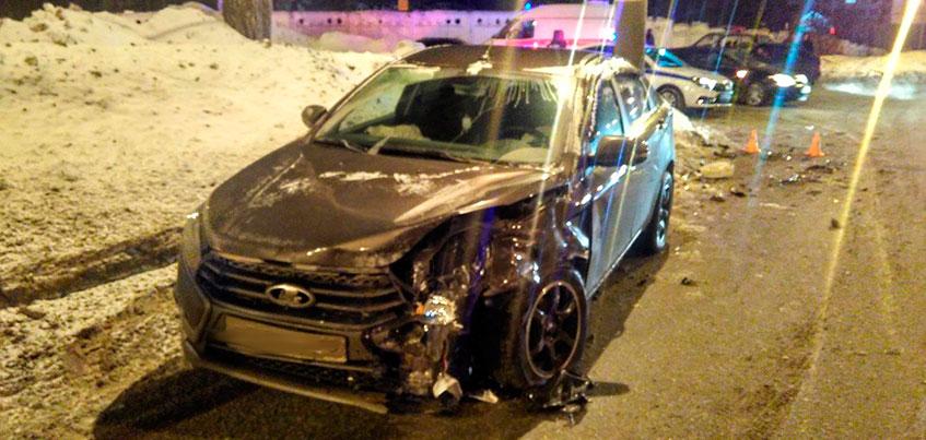 Двое взрослых и двое детей пострадали в ДТП на ул. Орджоникидзе в Ижевске
