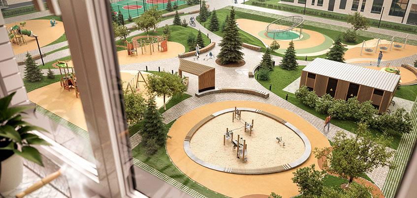 Двор как своя вселенная: ижевчанам представили проект придомовой территории нового жилого комплекса