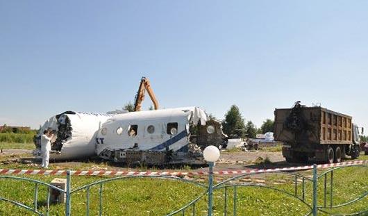 Самолет, который находился неподалеку от Ижевского аэропорта, сдали в металлолом