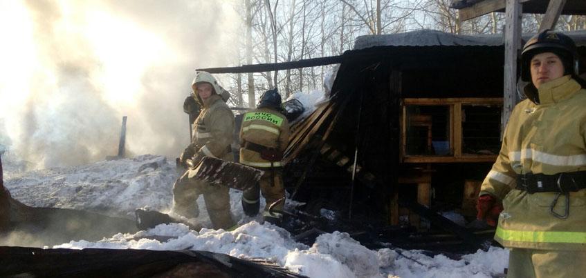 В долгострое ЖК «Родниковый край» в Удмуртии произошел пожар