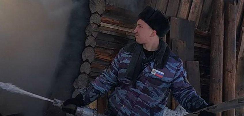 В Завьяловском районе Удмуртии сотрудники УФСИН помогли потушить пожар