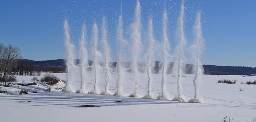 С 27 марта на реках Удмуртии начали взрывать лед