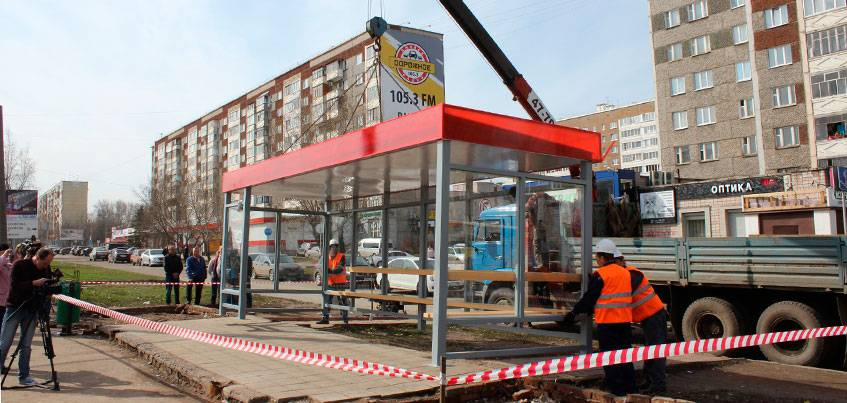 В Ижевске появятся антивандальные остановки?