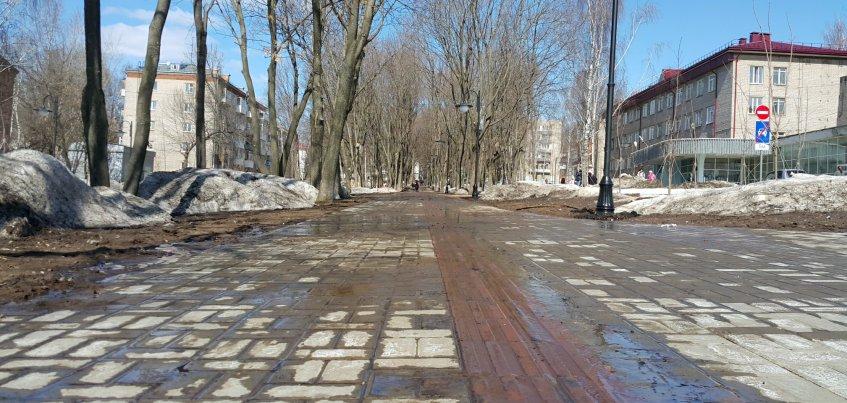Подрядчик до 1 мая устранит дефекты на бульваре Гоголя в Ижевске