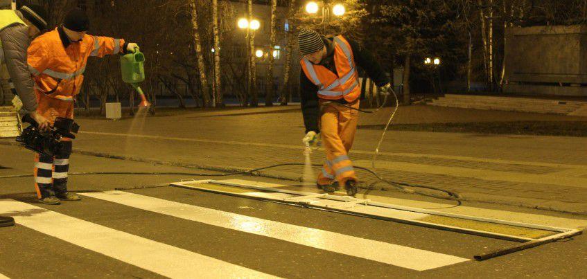 К 1 мая на улице Пушкинской в Ижевске обновят разметку
