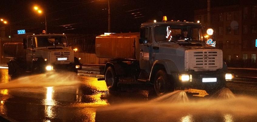 В Ижевске начали мыть дороги