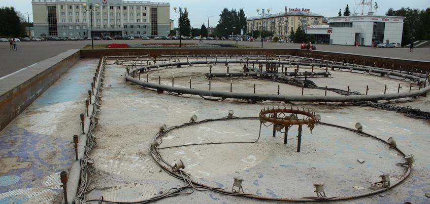 Фонтан на Центральной площади Ижевска включат к Дню города