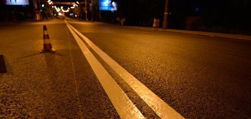 Дорожную разметку в Ижевске обновят позднее