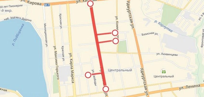 Центр Ижевска перекроют в субботу из-за репетиции Парада Победы