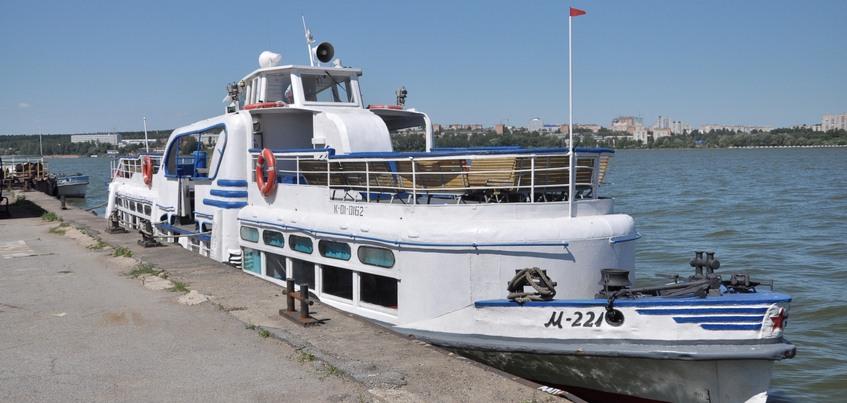Теплоходы по пруду в Ижевске будут ходить до Воложки