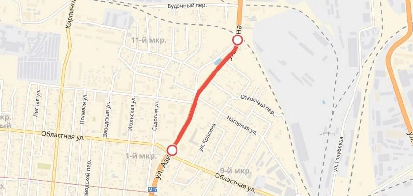 Участок улицы Азина закроют для транспорта в Ижевске