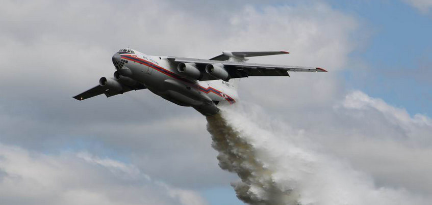 Пожарный самолет ждут для ликвидации пожара в Пугачево