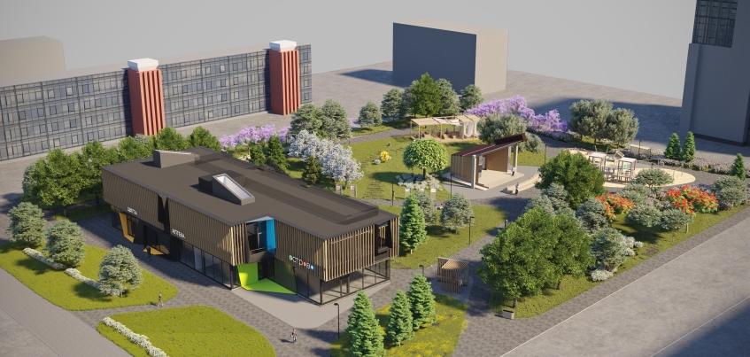 Сквер за администрацией Ижевска откроется в августе