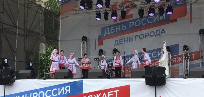 Особенные дети выступили на Центральной площади Ижевска