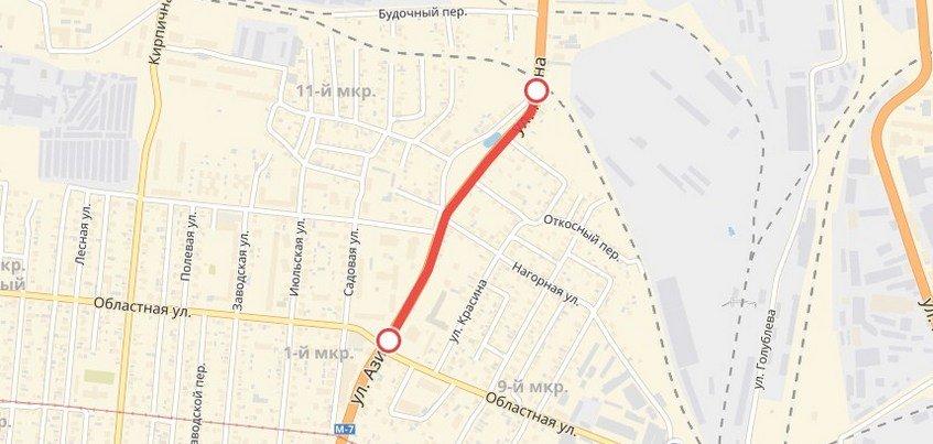Улицу Азина вновь закроют в Ижевске