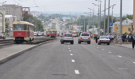 В Ижевске открыли улицу Карла Маркса: новые светофоры и асфальт в три слоя