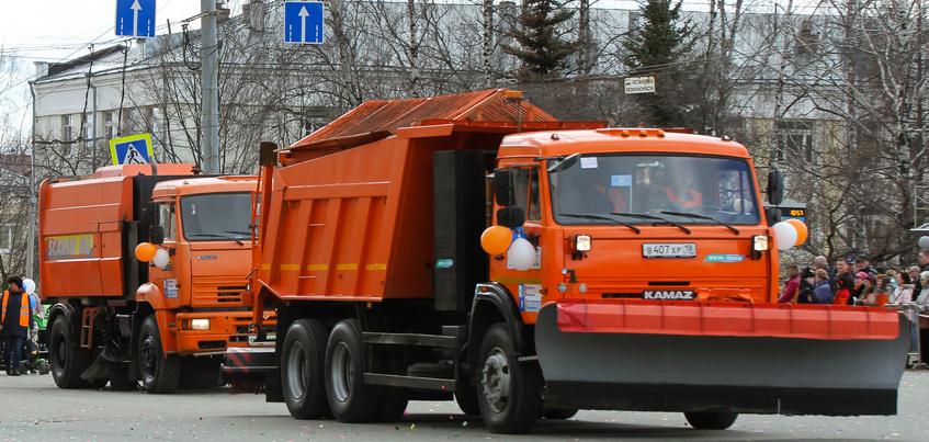 Дороги в центре Ижевска перестали убирать из-за долгов
