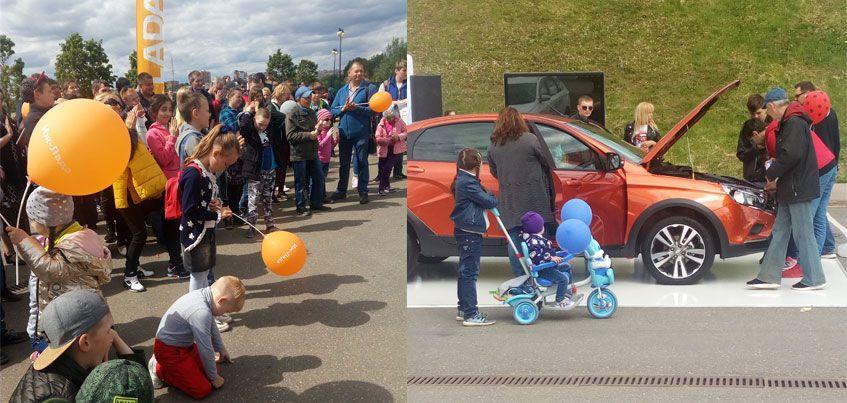 Дилерский центр «Иж-Лада» презентовал автомобиль LADA Vesta Cross в Ижевске