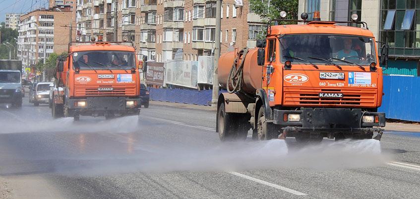 МУП ДРЭУ возобновило работы по уборке улиц Ижевска