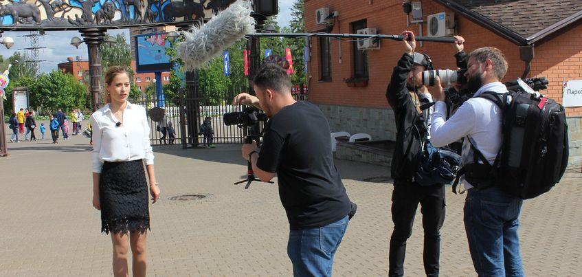 В Ижевском зоопарке прошли съемки программы «Стажерка»