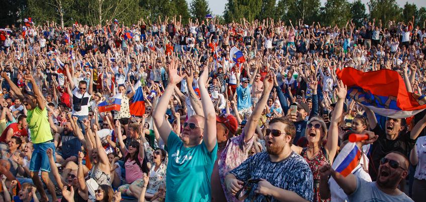 11 тысяч человек посетили фан-зону Ижевска во время матча Испания – Россия