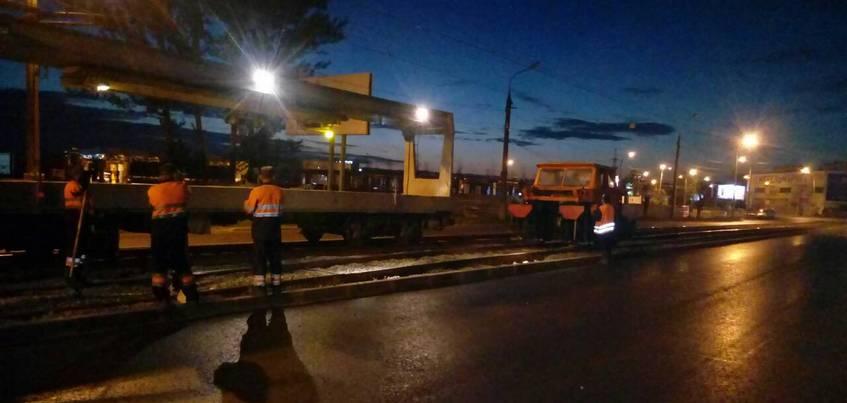 Трамвайные пути поднимут на улице Магистральной в Ижевске