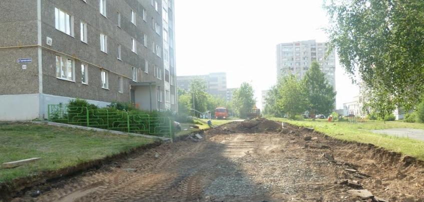 Ремонт дворов начался в Ленинском районе Ижевска