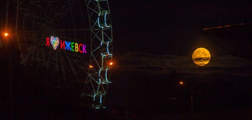 8 фото лунного затмения в Удмуртии