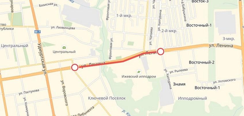Улицу Ленина начали ремонтировать в Ижевске