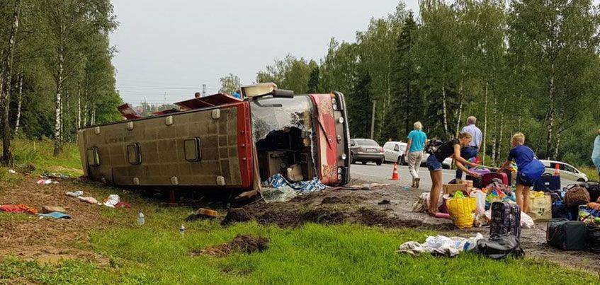12 пассажиров автобуса, который попал в ДТП в Подмосковье, вернулись в Ижевск