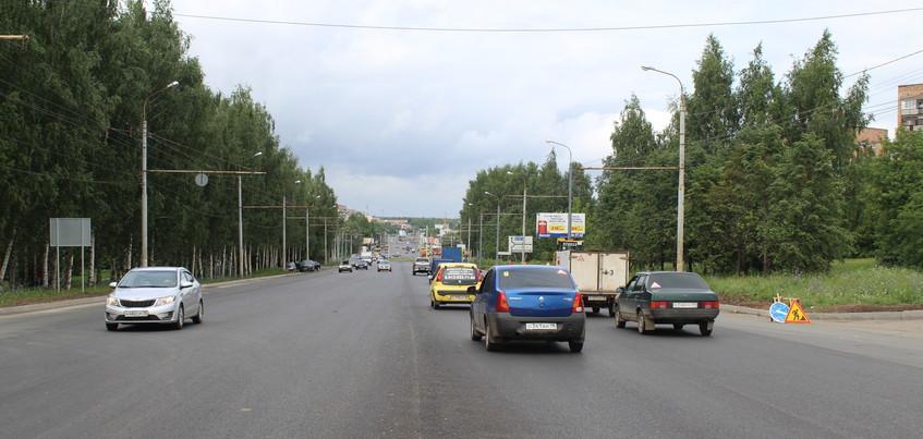 Восемь участков переделают на ремонтируемой улице 9 Января в Ижевске