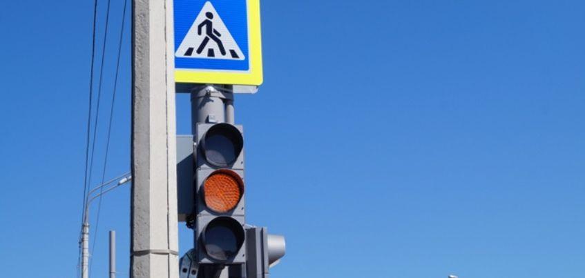 Фотофакт: новый светофор начал работать на Воткинском шоссе в Ижевске
