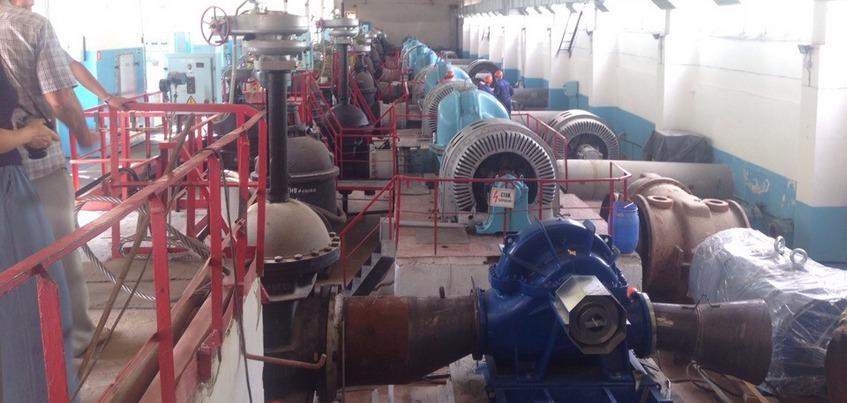 Два новых насоса за 40 млн рублей установили на станции подкачки воды «Кама – Ижевск»