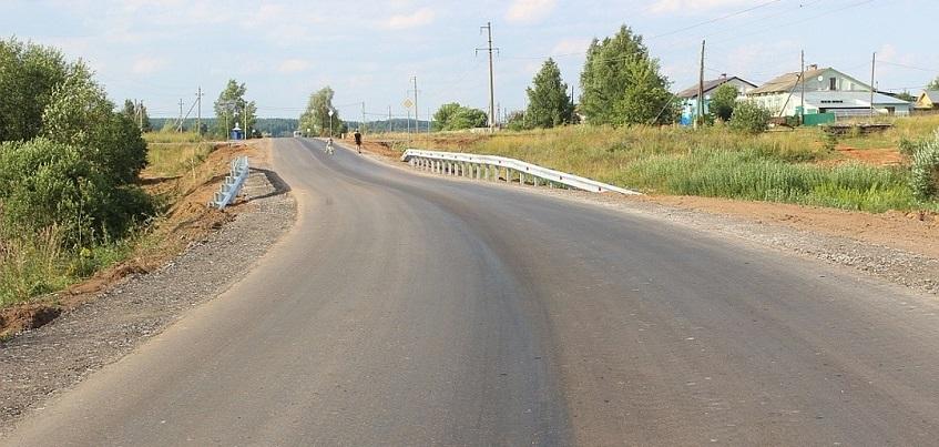 Завершился ремонт на двух участках дороги Ижевск – Воткинск