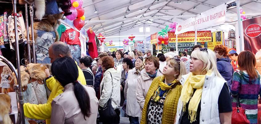 На Центральной площади Ижевска проходит юбилейная «Всероссийская ярмарка»