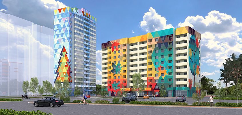 ЖК «Времена года»: яркие фасады и квартиры