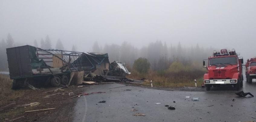 Два человека погибли в столкновении грузовиков на трассе Ижевск – Воткинск