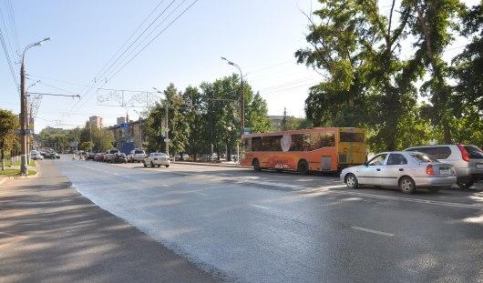 В Ижевске на Пушкинской от Майской до 10 лет Октября закрыли две полосы на 2 недели