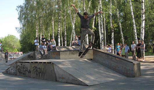 В ижевском парке Космонавтов строят современный скейт-парк