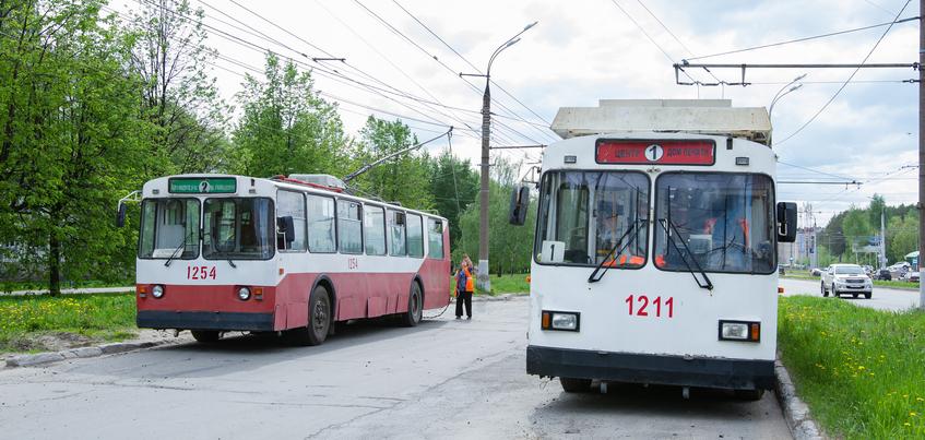 Движение двух троллейбусных маршрутов прервано в Ижевске