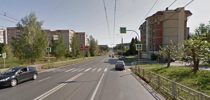 Пешеходный переход уберут с улицы Петрова в Ижевске