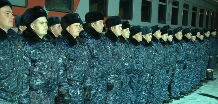 Полицейские Удмуртии вернулись домой из командировки в Дагестан