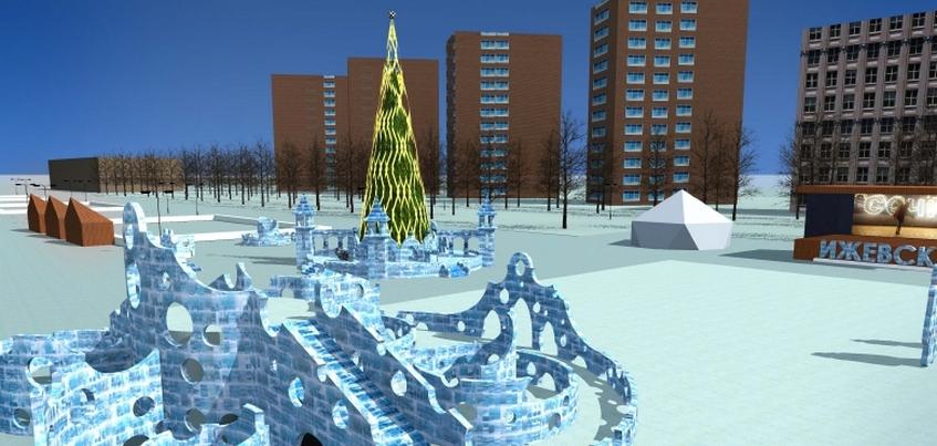 Открытие ледового городка в Ижевске намечено на 27 декабря