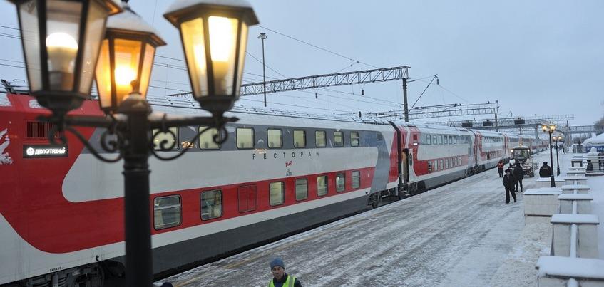 Первый двухэтажный поезд отправился из Ижевска в Москву