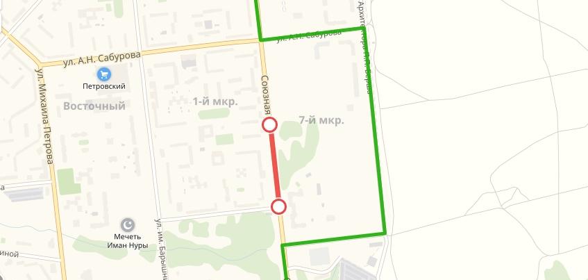 Движение по улице Союзной частично закроют в Ижевске