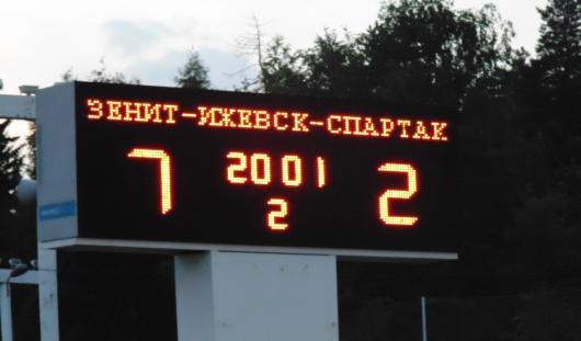 Футболисты Ижевска выиграли со счетом 7:2 у «Спартака» из Йошкар-Олы