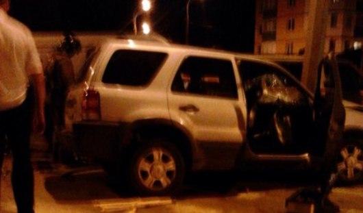 В Ижевске пьяный водитель с гипсом на ноге въехал в столб